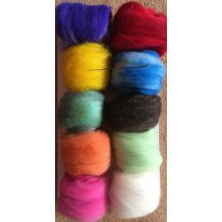 Hand-dyed Czech felting wool
