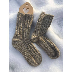 Socks with 25% hand-spun linen