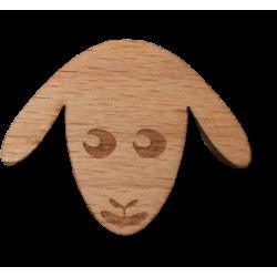 Wooden sheep head