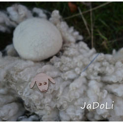 Set for crafting woolen sheep