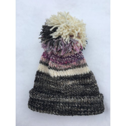 Hat with large pompom